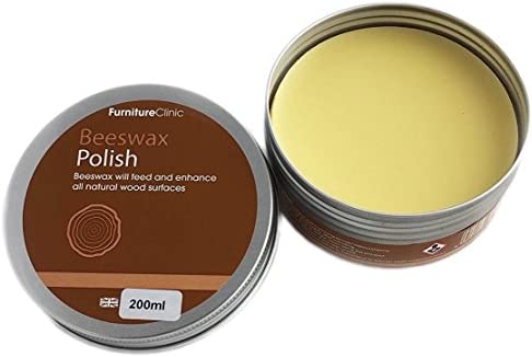 Furniture Clinic Traditional Beeswax Polish For Wood Furniture 200ml Of Wax For All Wood Types Colors Oak Teak Dark And Light Wood Protect
