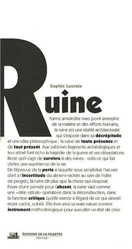 Télécharger Ruine (Sophie Lacroix) PDF