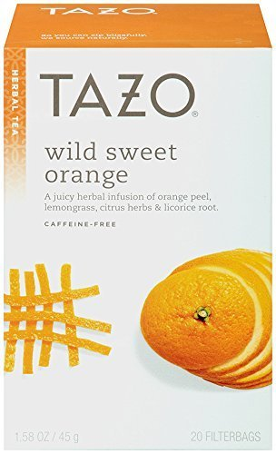 Tazo Wild Sweet Orange Herbal Tea, 20 Count Box 1.58oz (Pack of (Herbal Sweet Licorice)