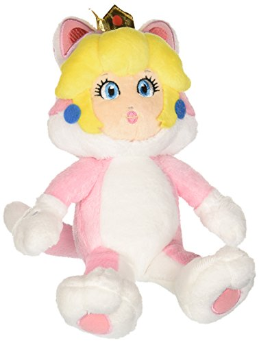 Little Buddy Super Mario Neko Cat Peach Plush, 10
