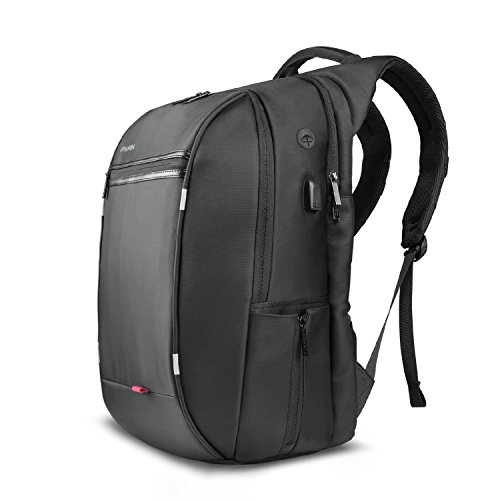 SPARIN Laptop Backpack, For Up to 15.6-Inch Laptops / USB Charging Port / Anti Thief College Shoulder Backpack Business Laptop Backpack, Black