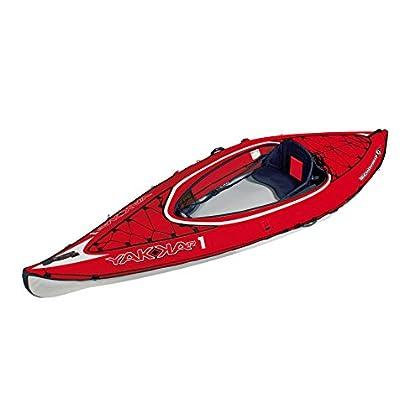Image of Fishing Kayaks BIC Sport YAKKAIR HP1 Inflatable Kayak, Red/Grey, 10-Feet 9-Inch x 35.4-Inch x 242# Capacity