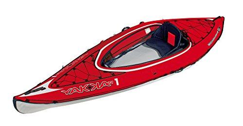 BIC Sport YAKKAIR HP1 Inflatable Kayak, Red/Grey, 10-Feet 9-Inch x 35.4-Inch x 242# ()
