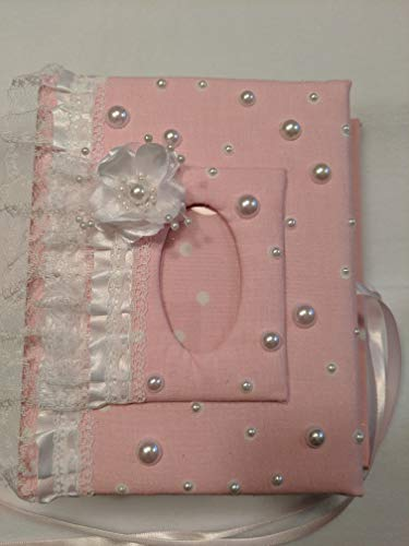 Custom Baby Girl Polka Dot Photo Album - Holds 100 4x6 Photos - Handmade Photo Album