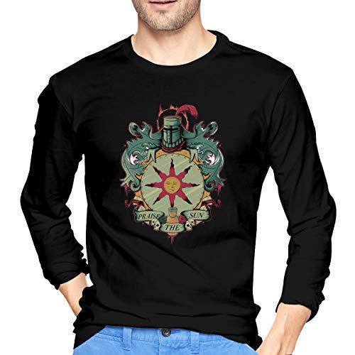 LIAM HENDERSON Mens Fashion Dark Souls Praise The Sun Long Sleeve T Shirt S Black