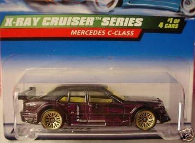 Mattel Hot Wheels 1999 1:64 Scale X-Ray Cruiser Series Black Mercedes C-Class Die Cast Car 1//4