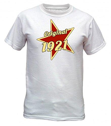 Birthday Shirt - Original 1921 - Lustiges T-Shirt als Geschenk zum Geburtstag - Weiss