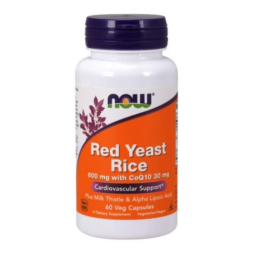 Now Foods Red Rice Yeast & CoQ10, 60 caps (Pack of 2)