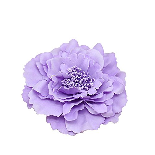 (Kewl Fashion Women's Bohemia Peony Flowers Hairpin Hair Clip Flower Brooch (Lavender #1))
