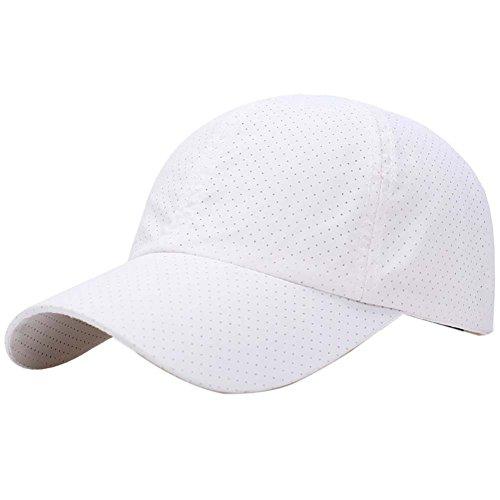 (Riiya Unisex Quick Drying Baseball Cap Mesh Sun Hat for Baseball Golf Fishing Hiking Outdoor Activities)