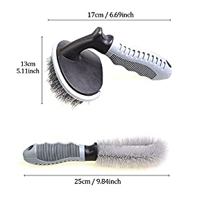 Swpeet 2 Pcs Soft Alloy Wheel Cleaning Brush Kit for Auto Motorcycle / Bike / Cars / Wheel Cleaning Tool - Easily Lift Car & Household Dust Now!