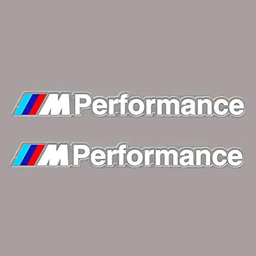 FidgetKute 2X M Performance Decals Stickers for BMW M3 M5 M6 Car Auto Styling Vinyl Emblems White