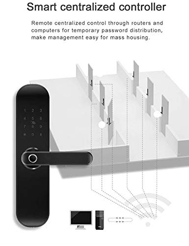 Smart WiFi Door Lock, Keyless Entry, Temporary Password RFID Access, Wireless App, Mechanical Key, Touch Screen Keypad, Digital Deadbolt Entrance, Remote Control Home Bedroom Hotels Apartment Airbnb by Smart Home Products (Image #3)