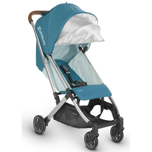 Image of the UPPAbaby MINU Stroller, Ryan, Teal Melange/Silver/Saddle Leather