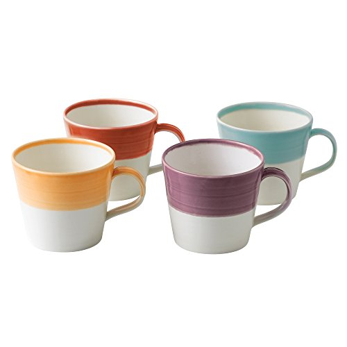 Royal Doulton 1815 Bright Colors Mixed Patterns Mugs (Set of 4), Multicolor