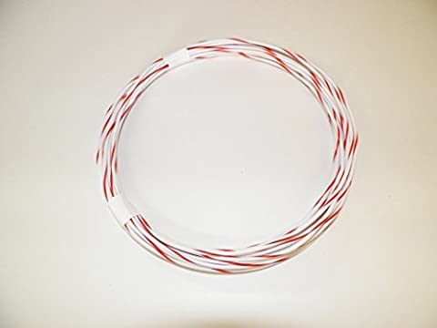 18 Ga Awg White/Red Striped Automotive/General Purpose GXL Wire .94 O.D. 25' Superior Abrasion Resistance, High Heat, Resist grease,Oil, - Purpose Marine Grease
