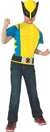 Rubies Marvel Universe Wolverine Muscle-Chest Costume Shirt with Mask, Child Size]()