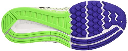 Nike Mujeres Air Zoom Structure 19 Zapatillas Para Correr Blanco / Negro / Verde Eléctrico