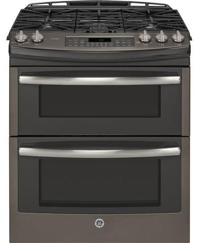 GE Profile PGS950EEFES 30″ Profile Series Slide-in Gas Range with Sealed Burner Cooktop, in Slate