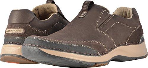 Rockport Men's RocSports Lite Five Slip On Shoe, dark bitter chocolate, 11.5 M US