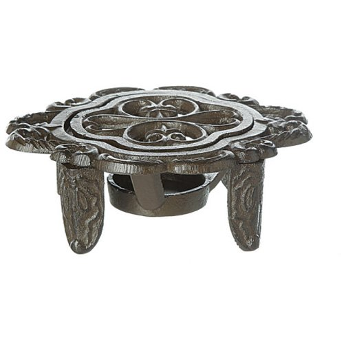 Creative Co-Op Cast Iron Dish Warmer, Black