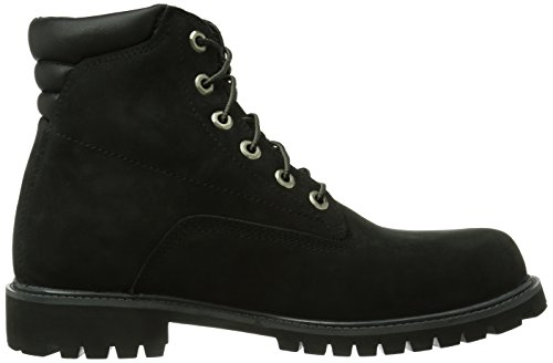 Timberland 6 in Basic FTB_Alburn 6 in, Herren Halbschaft Stiefel, Schwarz (BLACK), 43.5 EU (9 Herren UK)
