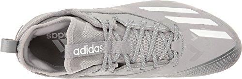 Icône De Boost Dénergie Pour Hommes Adidas 2. 0 Bas Crampons De Baseball En Métal Léger Onix / Blanc / Core Noir