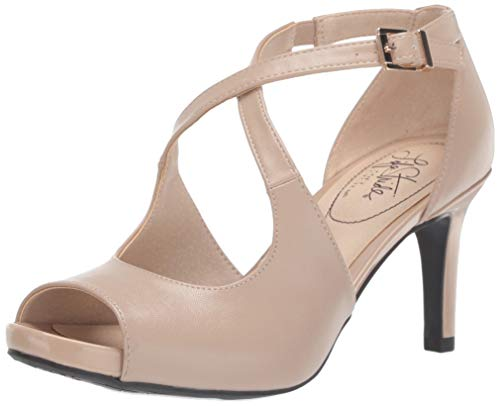 LifeStride Women's Maria Heeled Sandal, Taupe, 8.5 M US