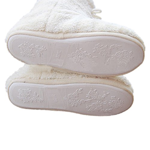 Summer Mae Mujer Zapatillas Botas Con Lentejuelas A Todo Color Blanco