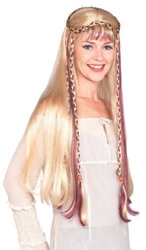 Medieval Damsel Costume (Rubie's Costume Medieval Blond Maiden Wig, Yellow, One Size)