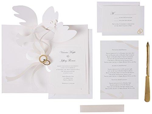 UWP LUXE RSW002 Sabuda Wedding Invitation, White