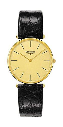 Longines La Grande Classique 18K Solid Gold Mens Strap Watch (18k Solid Gold Mens Watch)