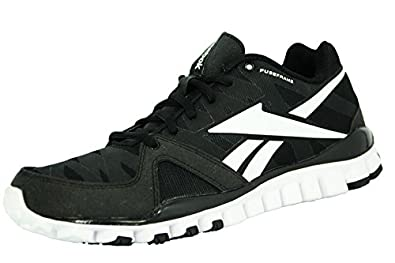 aba46f97ea630 Reebok realflex transition 3.0 chaussures de course running homme noir blanc  Reebok T 47
