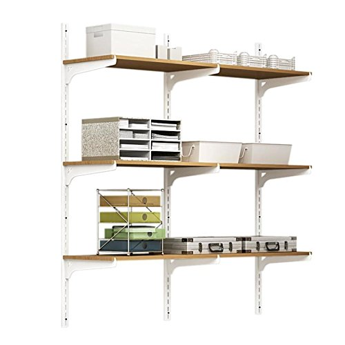 Style Selections 0.65-in W x 72.01-in H x 0.39-in D Steel Wall Mounted Shelving