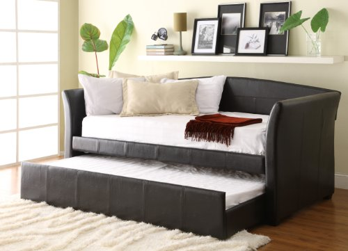 Homelegance Meyer 4956PU Daybed w/Trundle, Dark Brown Bi-Cast Vinyl