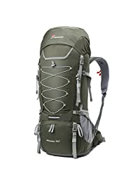 Mountaintop 75L Outdoor Sport Water-resistant Internal Frame Backpack Hiking Backpack with Rain Cover for Climbing,camping,hiking,Travel and Mountaineering-6801