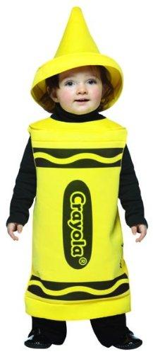 Rasta Imposta Crayola Toddler Costume, Yellow, (Crayon Costume Toddler)
