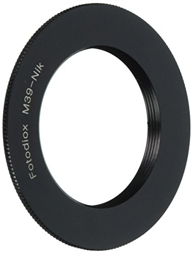 39mm Adapter (Fotodiox Lens Mount Adapter, Leica L39 (M39, 39mm Thread) Screw Lens to Nikon F-Mount Camera such as D7200, D300S & D90 DX)