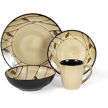 Amazon.com | Mikasa Gourmet Basics Anissa 16 pc dinnerware set ...