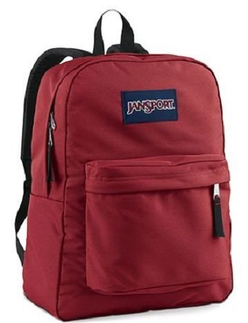 Jansport Backpack All Color Black Navy Grey Blue Purple Any Color!! BAG-COLOR: Burgundy