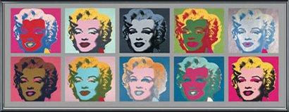 ポスター アンディ ウォーホル Ten Marilyns 1967 額装品 アルミ製ベーシックフレーム(ブラック) B071GFBMSZブラック