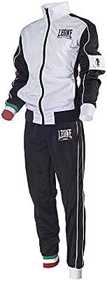 Leone AB796 - Chándal completo (chaqueta y pantalones), BIANCO ...