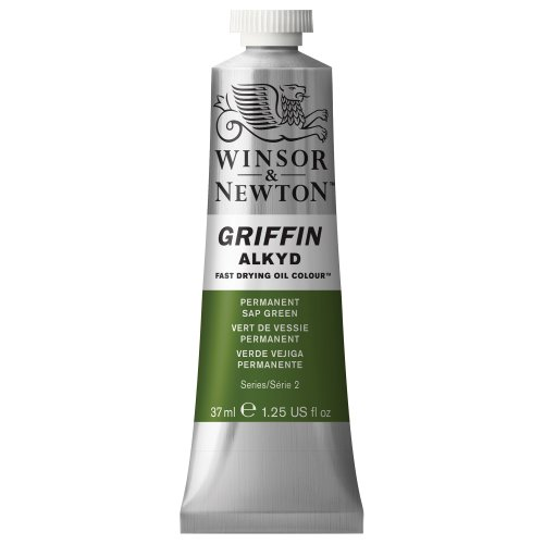 Winsor & Newton Griffin Alkyd Fast Drying Oil Color Tube, Permanent Sap Green, 37-ml Tube