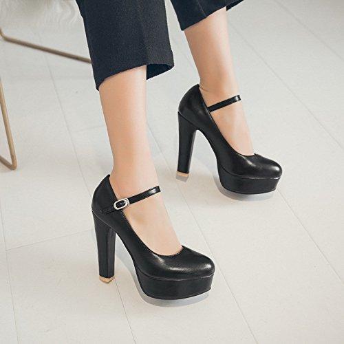 Élégantes et ultra-haute avec épais avec la lumière imperméable Taiwan suite nuptiale chaussures femmes chaussures ,black,44
