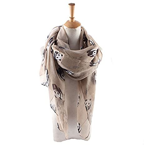 Panda Fashion Foulards en dames femmes  Long Soft Warm imprimé Foulard Wrap  Shawl Silk Feel 672c1590521