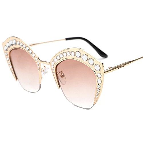 3d902dd7a3 Barato XW Gafas Gafas de sol elegantes coreanas Gafas de sol redondas de la  personalidad Gafas