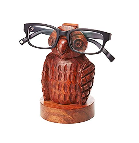 tacle Holder Handmade Mustache Display Stand for Office Desk (Owl Design3) ()