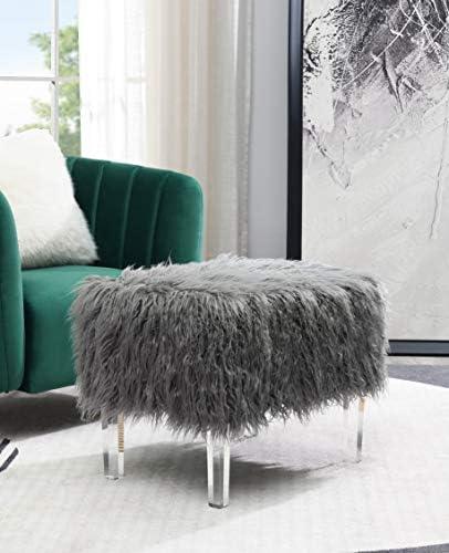 Comfortland Faux Fur Ottoman Bench Seat