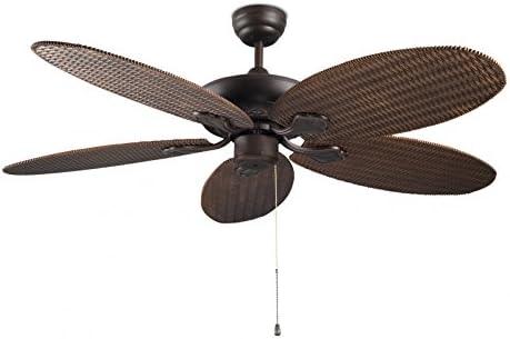 Diseño Ventilador de techo PHUKET Incluye lámpara 132 cm: Amazon ...