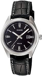 """ساعة للسيدات من """"كاسيو"""" بسوار من الجلد، مضادة للماء لعمق 50 متر - LTP-1302L-1AV"""